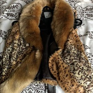 Leopard fur vest